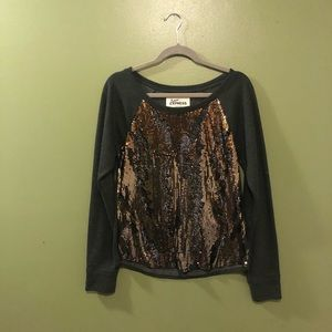 Express Sequins Sweater- Small